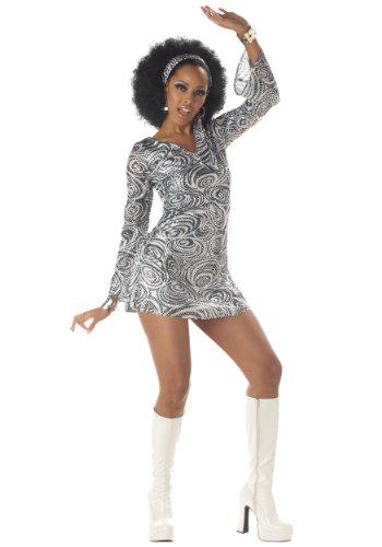 California Costumes Women's Disco Diva Costume, As Shown, L(sizes 10-12)