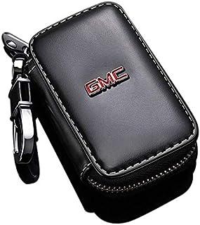حافظة مفتاح سيارة جي ام سي من بيرفاير. حقيبة مفاتيح جلدية للسيارة. سلسلة المفاتيح الذكية. سلسلة مفاتيح. حامل ، خطاف معدني...
