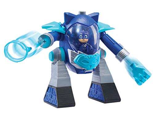 PJ Masks-Robot Turbo Movers Gatuno, Color Azul (Bandai JP95506)