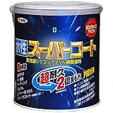 アサヒペン ペンキ 水性スーパーコート 水性多用途 ツヤ消し黒 1.6L