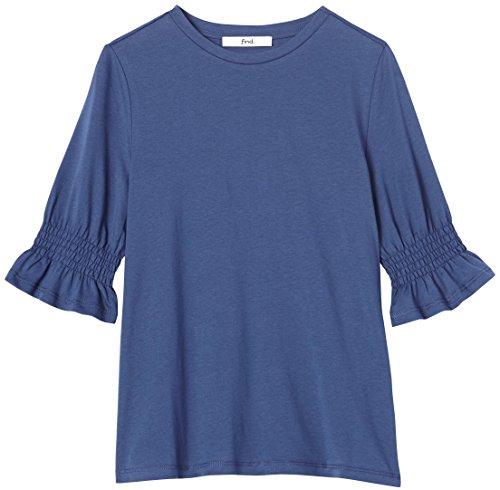 Marchio Amazon - find. T-shirt Girocollo Donna, Blu (Blau), 46, Label: L