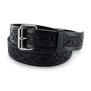 Hanks 1.5″ Eagle Print Full-Grain Leather Belt – USA-Made, 100-Year Warranty