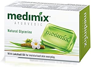 MEDIMIX Herbal Ayurvedic Soap With 18 Herbs Healthy Skin 75g. / (3pcs. With glycerine and lakshadi oil) by Medimix