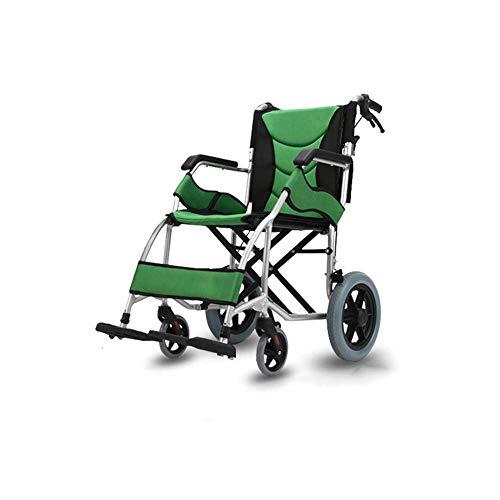 QNJM Ältere Leichte Rollstühle - Faltbare Zusätzliche Transportrollstühle - Mobilität Faltbarer Selbstfahrender Rollstuhl (Size : 16inch)