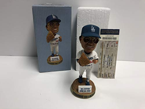 Fernando Valenzuela 2012 Los Angeles Dodgers STADIUM PROMO Bobblehead SGA with Game Ticket Stub