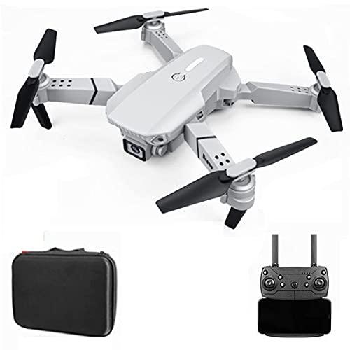 GZTYLQQ Drone E88 con cámara Dual 4K HD, posicionamiento de Flujo óptico, despegue y Aterrizaje con un Clic, Foto de Gestos, Control de teléfono, Modo sin Cabeza RC Quadcopter para Adultos niño Gris