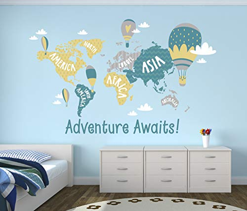 2512dz Large Wall Vinyl Decal Fantasy for Kids Game Room Discover Adventure World