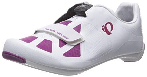 Pearl Izumi W Race Road IV, Zapatillas de Ciclismo de Carretera Mujer, Blanco (Blanco/Morado), 38 EU