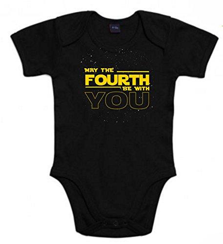 Body de NIÑOS Star Wars Dark Vader Han Solo Fuerza Hora Leia 3Meses