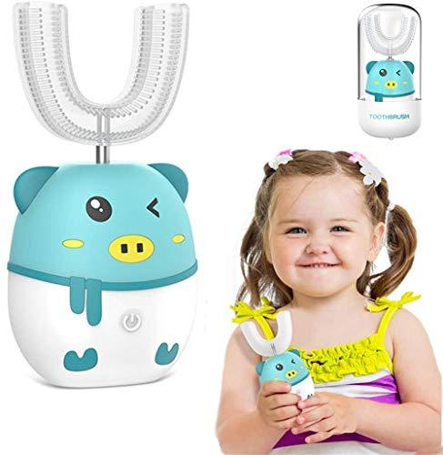 Cepillo de dientes eléctrico ultrasonido para niños 360° Limpieza oral Cabezal cepillo...