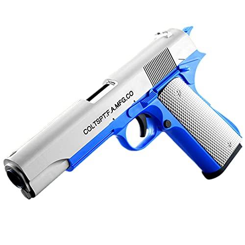 ハンドガン風 おもちゃ銃 拳銃型 ブローバック排莢再現 スポンジ弾 (タイプ2)