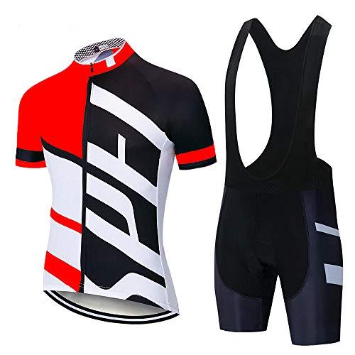 HXTSWGS Conjunto de Jersey de Ciclismo Conjunto de Ropa de Ciclismo de montaña de Carretera de Verano Conjunto de Ropa Deportiva de Bicicleta MTB Ciclismo-A17_M
