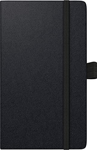 BRUNNEN 1075666902 Taschenkalender/Wochen-Sichtkalender Modell 756 Kompagnon, 2 Seiten = 1 Woche, 8,7 x 15,3 cm, Baladek-Einband schwarz, Kalendarium 2022