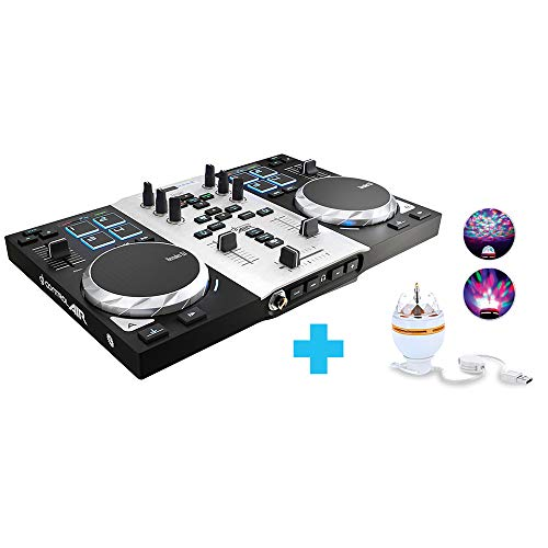 Hercules Dj Control Air Party Pack, Controladora de DJ con LED Party Light USB
