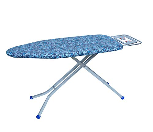 Meded King Size Premium International Quality Ironing Board/Iron Table Stand with Press Holder, Foldable & Height Adjustable (122 X 48 cm) Geometric Print