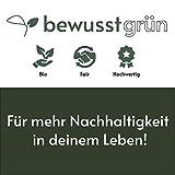 BewusstGrün - 24 𝗡𝗮𝗰𝗵𝗵𝗮𝗹𝘁𝗶𝗴𝗲 𝗦𝘁𝗼𝗳𝗳𝘀𝗲𝗿𝘃𝗶𝗲𝘁𝘁𝗲𝗻 grau I 45x45 cm I 100% Bio-Baumwolle - Aufwertung des Tisches für Anlässe und Alltag - 7