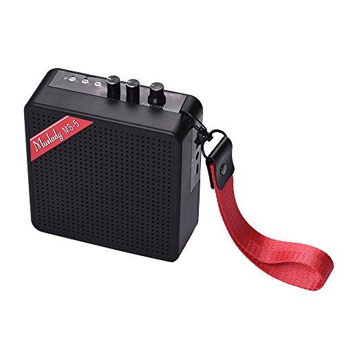 Muslady Gitarrenverstärker Redner MS-5 Portable Mini 5W Unterstützung BT Verbindung mit Speicherkarte Slot Kopfhörer Ausgabe