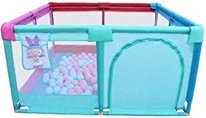 Hfyg Playpens Baby Playpen Play Yard Kids Activity Center  Indoor Kids Safety Playground Fence Crawling Safety Barrier pens  Size 128x128x66cm