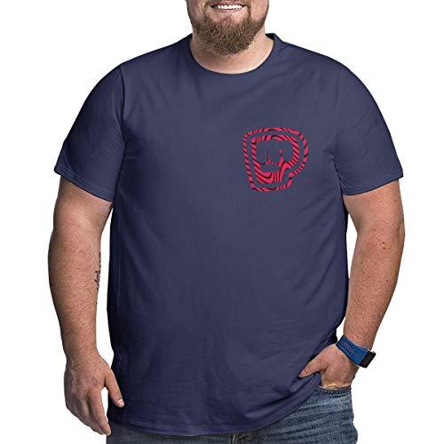 Pewdiepie Merch T-Shirts Herren Kurzarm Tops Plus Größen Xl-6xl Cotton Tee Navy XL