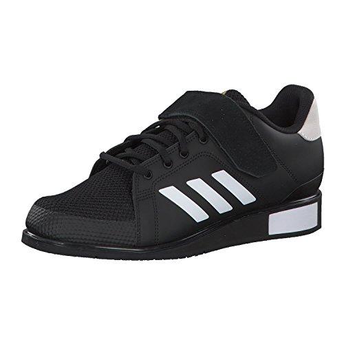 Adidas Power III, Zapatillas de Deporte Hombre, Negro (Core Black/Footwear White/Matte Gold 0), 36 EU