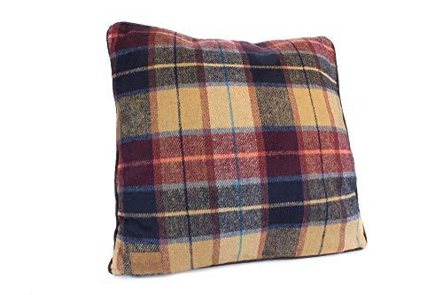 Samuel Lamont Keltische Wevers 100% wol Tweed Kussen - Country Check 43x43cm Groen & Rood