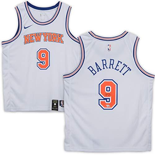 R.J. Barrett New York Knicks Autographed White Swingman Jersey - Autographed NBA Jerseys