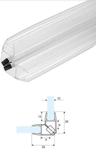 220cm - COPPIA di guarnizione magnetica/calamita per box doccia ad ANGOLO PER VETRO 10mm