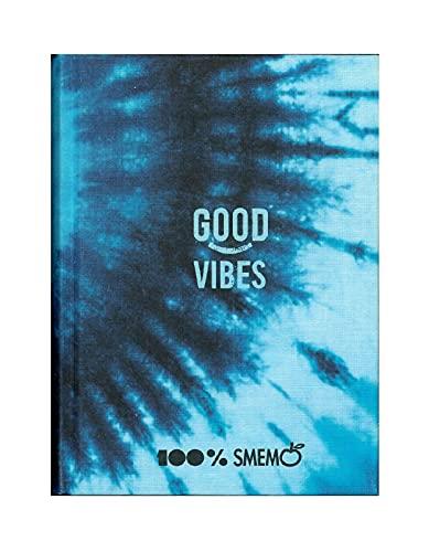 Diario Agenda Smemoranda Good Vibes Blu 2021/2022 Datato 16 Mesi Large 18x13 cm + Penna Colorata Omaggio