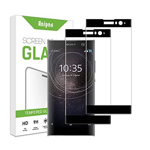 ZCIBN[2 Stück] Panzerglas kompatibel mit Sony Xperia XA2 Plus Schutzfolie,[9H Härte] [Anti-Kratzen] [Anti-Fingerprint] [HD Klar], Sony Xperia XA2 Plus Panzerglasfolie