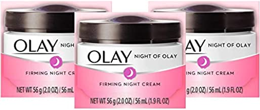 Night Cream by Olay Night Firming Cream 1.9 Ounce (56ml) (3 Pack) (Packaging may vary)