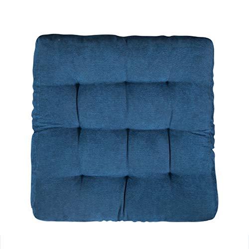 Platz Stuhlkissen Sitzkissen, Morbuy Kissen Corduroy Tatami Volltonfarbe Weiche Komfortable Stühle Bodenkissen Sitzauflagen für Outdoor Haus Auto Bürostuhl (45cmx45cm,Blau)