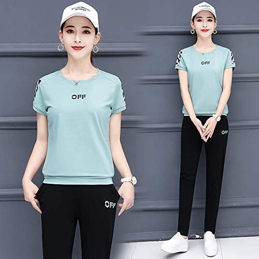 土曜日米国効率的にTシャツパンツセット トップス ハーフ ショート パンツ 上下 セット アップ 無地 ルース 半袖 ゆったり 大きいサイズ お出かけ 女性 レディース 2PCS /セット