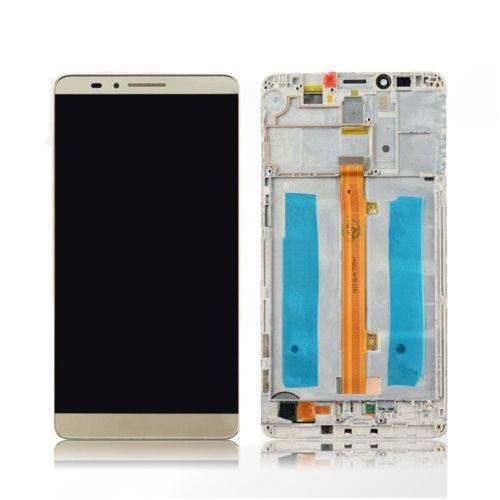Mr Cartridge Display per Huawei Mate 7 Gold MT7-TL10 LCD + Touch Screen + Frame