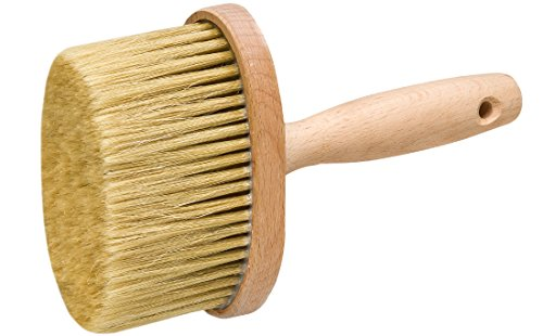 Colorus Premium Fassadenbürste | Flächenstreicher Oval 13 x 6 cm | Lasurbürste mit Chinaborsten | Malerbürste oval für Lasuren, Lacke, Wandfarben und Fassadenfarbe | Deckenbürste