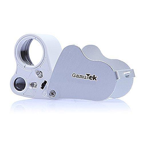 GamutTek™ 30x 60x Fach LED Juwelier Uhr Lupe Vergrößerungsglas Taschenlupe Magnifier Lesehilfe faltbar