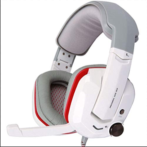Headset Computer Headset 7.1 Jeu de Vibrations sonores Casque Blanc (Color : D)