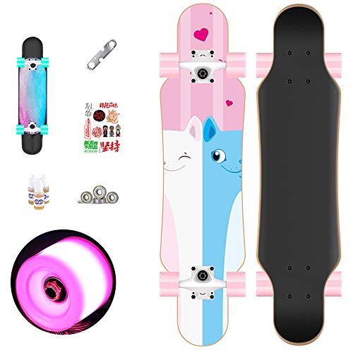 CuiCui Skateboard Allrad Anfänger Junge Teen Erwachsener Erwachsener Frau Professionelles Skateboard,A1