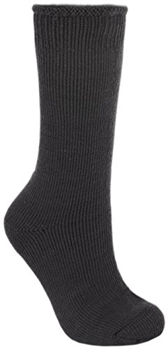 Trespass Herren Togged Thermo Ski-Socken (41-45 EUR) (Schwarz)