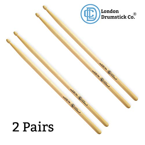 London Drumstick Company Classic Hickory Series 5A Wood Tip Hickory Drumsticks (2-Pack)