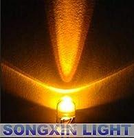 100pcs/lot Transparent Round LED 5MM Yellow LED light emitting diode F5mm Yellow LED 585-590NM 2.0-2.2V 20MA LAMP