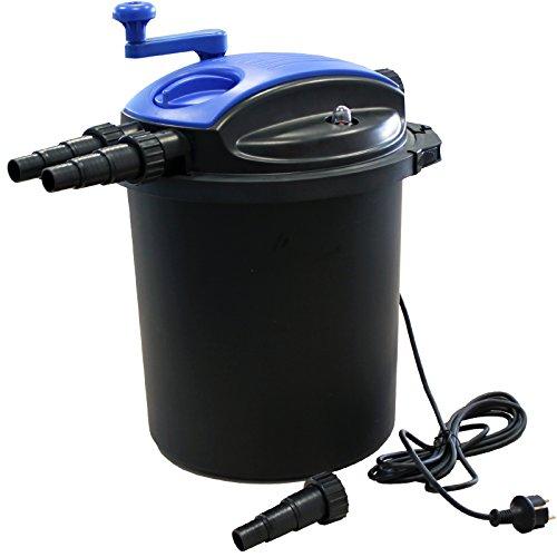 Kerry Electronics KER10000 Bio Druckfilter mit 18W UV-Einheit und Reinigungskurbel, Teichfilter, Koi Teich Filter UVC