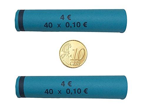 Münzhülsen 10 Cent - 128 Stück