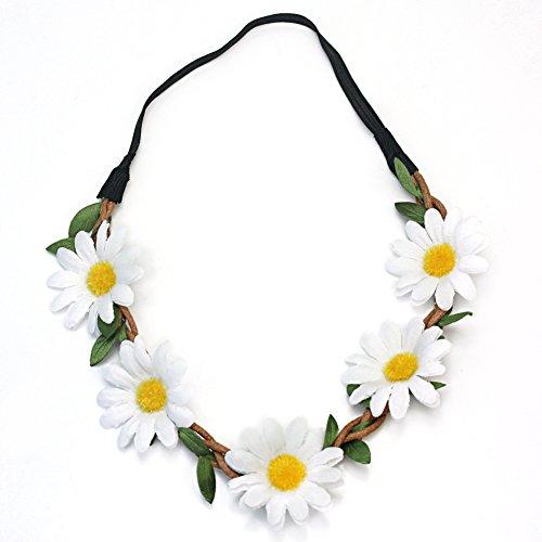 Pinzhi Bandeau à fleurs pour cheveux pour femme Style bohème