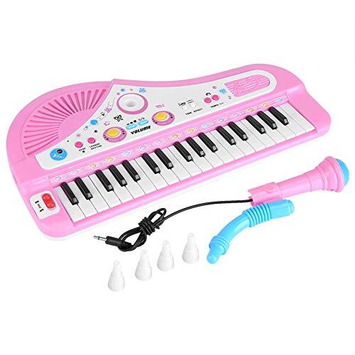 Greeflu Teclado eléctrico para Piano, Piano para niños, portátil 37 Teclas Teclado...