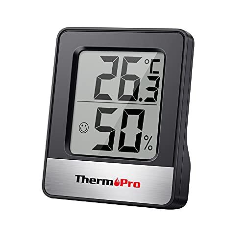 ThermoPro TP49 Petit Hygromètre Numérique Thermomètre Intérieur Thermomètre D