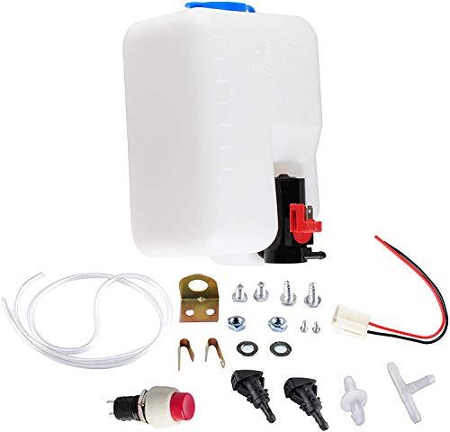 Scheibenwaschanlage 12V Universal Scheibenwasch System Vorratsbehälter Pumpe Flasche Kit Scheibenwaschanlage/Scheibenwaschpumpe von Poweka