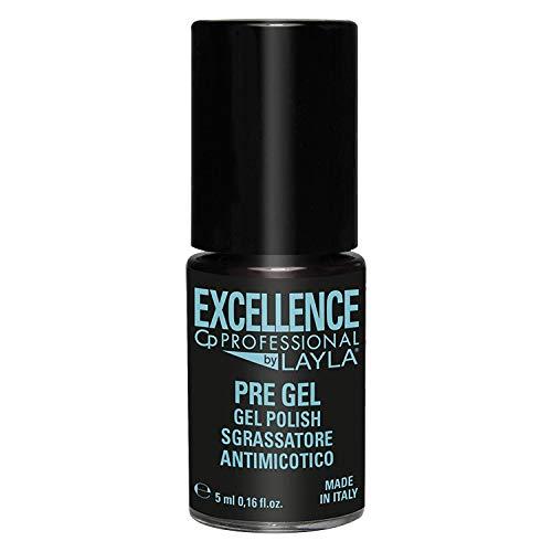 Excellence By Layla - Pre Gel Antimicotico per Semipermanente Professionale - Smalto ad Azione Sgrassante ed Antimicotica contro Funghi, Micosi e Batteri delle Unghie - Step 1 - Formato da 5 ml