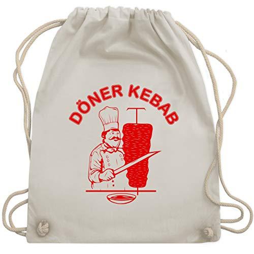 Shirtracer Statement - Original Döner Kebab Logo - Unisize - Naturweiß - kebab turnbeutel - WM110 - Turnbeutel und Stoffbeutel aus Baumwolle