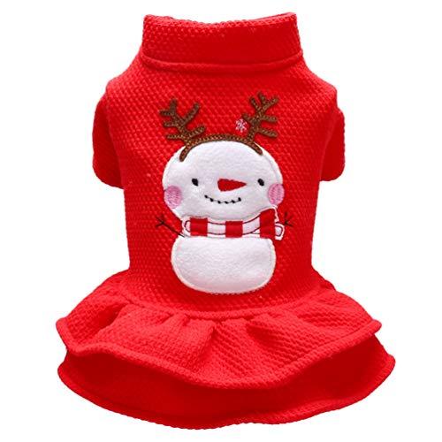 Balacoo Cappotto natalizio per cane, gatto, abbigliamento per animali domestici, taglia XS