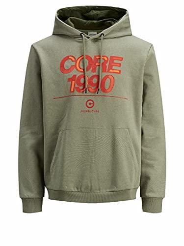 JACK & JONES Jcoberg Sweat Hood Sweatshirt Capuche, Vert Lichen, L Homme